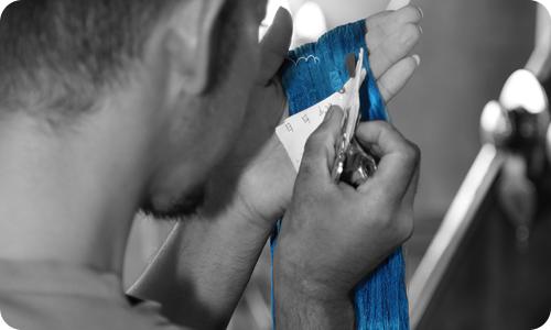 博多の色を作る【染色】
